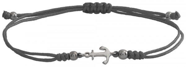 Wunscharmbändchen Anker • 925er Silber • Grau