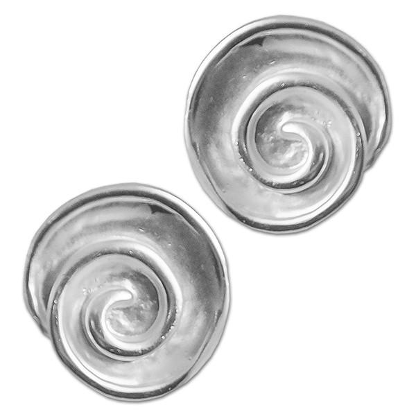 CLIXS Ohrringe Ohrstecker Spirale Loures, versilbert