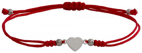 Wunscharmbändchen Herz • 925er Silber • Rot