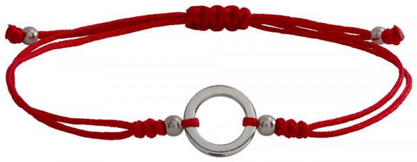 Wunscharmbändchen Kleiner Kreis • 925er Silber • Rot
