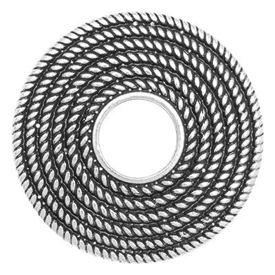 Wechselringe Metallscheibe Kordelkranz, versilbert
