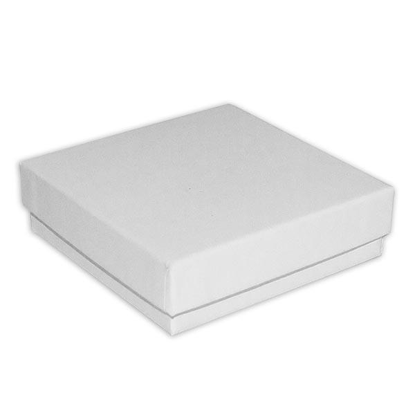 Schmuckdose Weiß - ca. 8,8cm x 8,8cm x 2,6cm