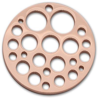 Edelstahlamulette Kettenanhänger Holes 50mm - rosévergoldet