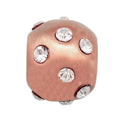 CLIXS Kettenanhänger Perle 8mm, rosévergoldet mit Strass