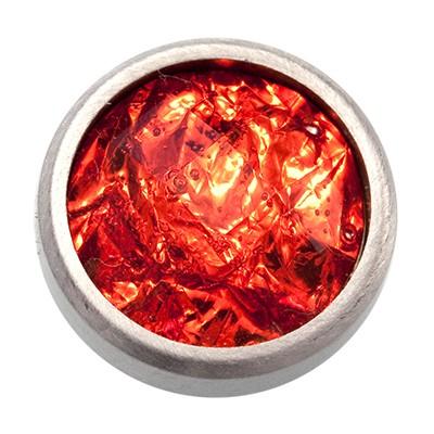 Wechselringe Top mit Glitzerfolie Rot, 12 mm