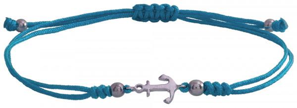 Wunscharmbändchen Anker • 925er Silber • Hellblau