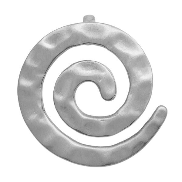 CLIXS Kettenanhänger Spirale Hammerschlag, versilbert
