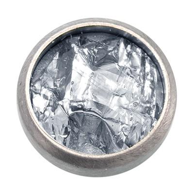 Wechselringe Top mit Glitzerfolie Weiß, 12 mm
