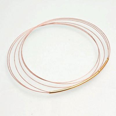 CLIXS Halskette Stahlreif dreifach, roségoldfarben - 42cm