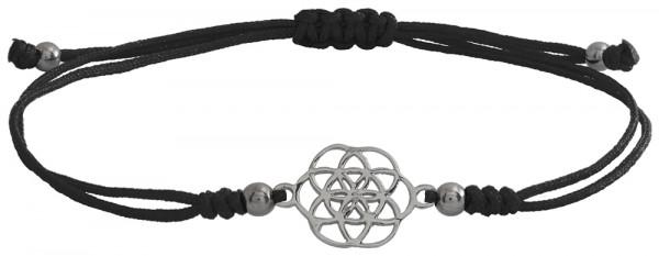 Wunscharmbändchen Mandala • 925er Silber • Schwarz