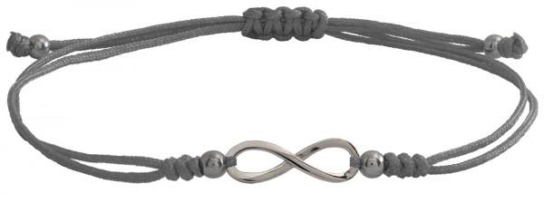 Wunscharmbändchen infinity Unendlichkeit • 925er Silber • Grau