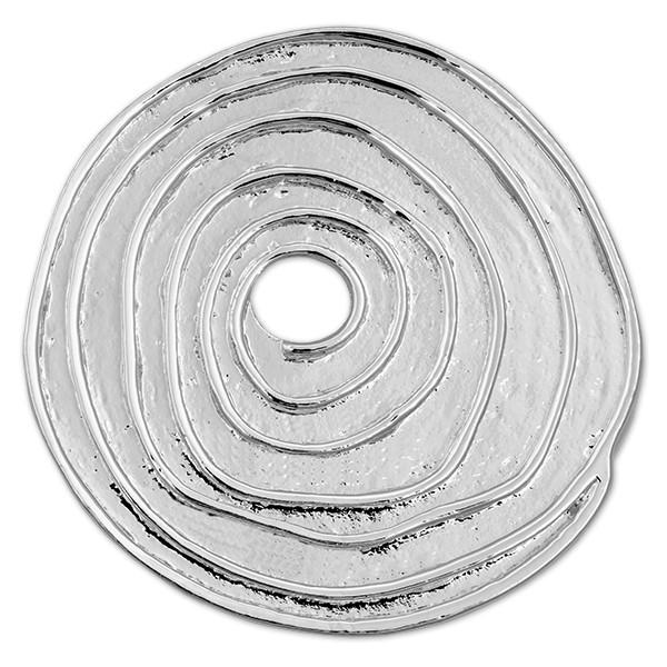 CLIXS Kettenanhänger Unregelmäßige Spirale, versilbert