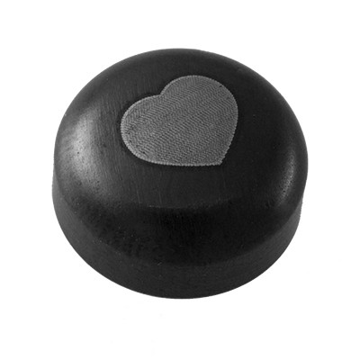 Wechselringe Top Pure Steel Black - Heart, 10 mm