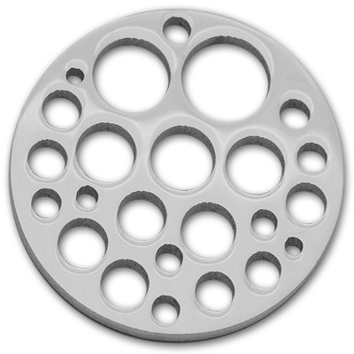 Edelstahlamulette Kettenanhänger Holes 50mm - silberfarben