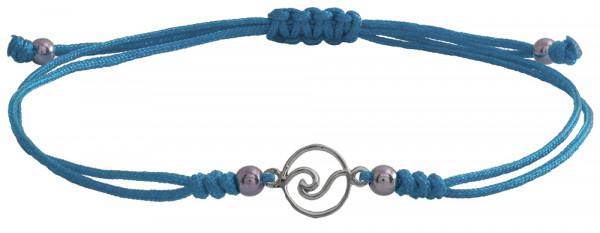 Wunscharmbändchen Welle • 925er Silber • Hellblau