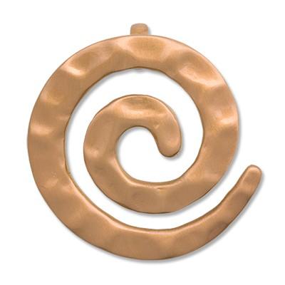 CLIXS Kettenanhänger Spirale Hammerschlag, 925er Silber, vergoldet