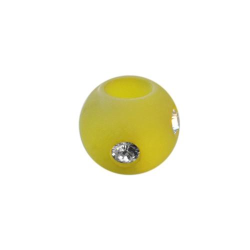 Polarisperle Kugel Oliv, 8mm mit Strass