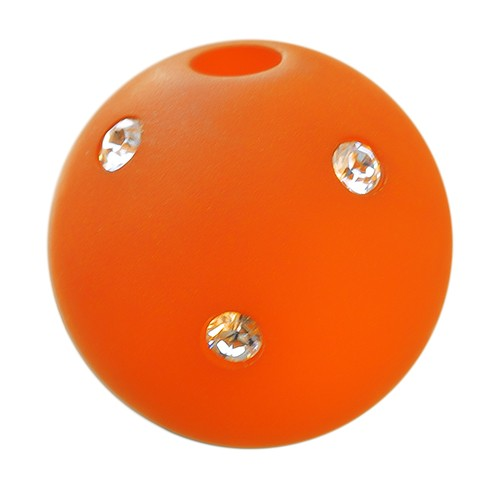Polarisperle Kugel Orange, 16mm mit Strass