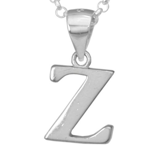Silber-Kettenanhänger • Buchstabe Z • 925er Sterlingsiber