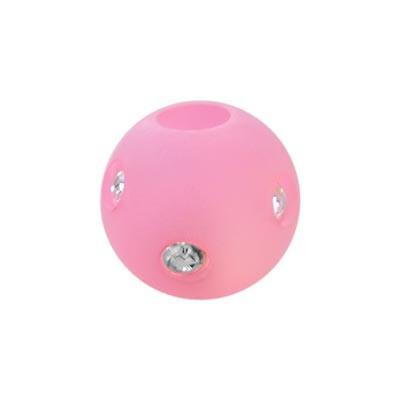 Polarisperle Kugel Rosa, 10mm mit Strass
