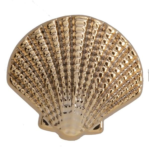 SlideOn Charm Seemuschel Seashell vergoldet • Slider für Mesh-Sammelarmband