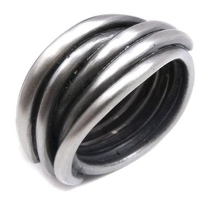 URBAN ROCKS Vintage Ring, Edelstahl matt, Damen- & Herrengrößen, antik-silberfarben, 7-11mm