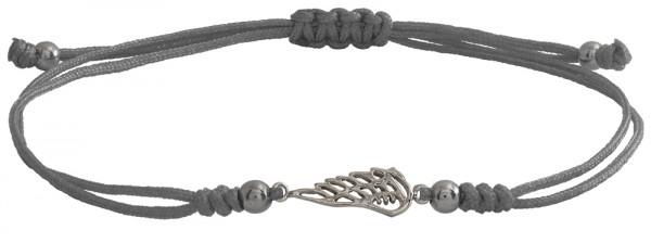 Wunscharmbändchen Fügel • 925er Silber • Grau