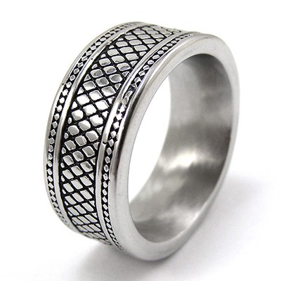 URBAN ROCKS Reptiliendesign Ring, Edelstahl. 9,5mm