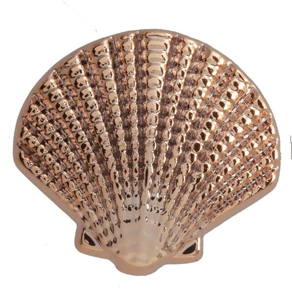 SlideOn Charm Seemuschel Seashell rosévergoldet • Slider für Mesh-Sammelarmband