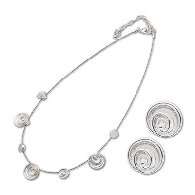 CLIXS Halskette Loja Set mit passenden Ohrsteckern, versilbert