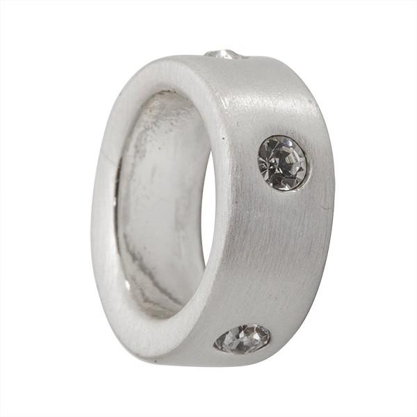 CLIXS Kettenanhänger Ring 12mm, versilbert mit Strass