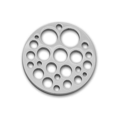 Edelstahlamulette Kettenanhänger Holes 33mm - silberfarben