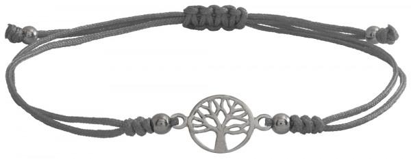 Wunscharmbändchen Lebensbaum • 925er Silber • Grau