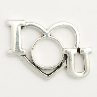 Wechselringe Metallscheibe I LOVE YOU