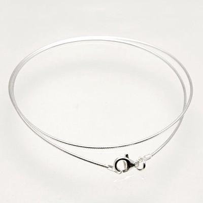 CLIXS Halskette Omegakette 38cm bis 50cm - 1mm - 925er Sterlingsilber