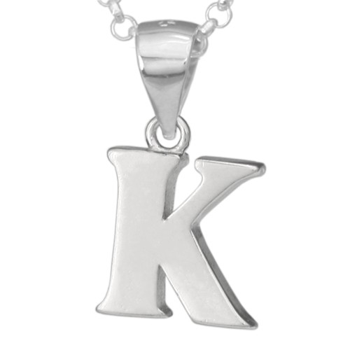 Silber-Kettenanhänger • Buchstabe K • 925er Sterlingsiber