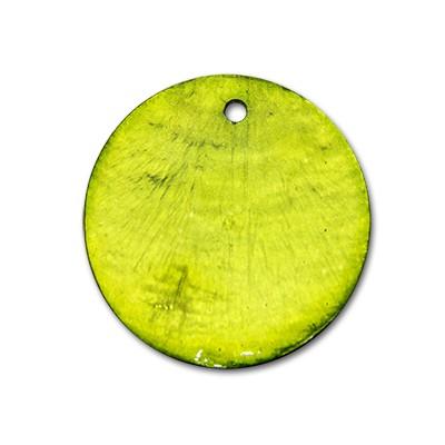 Edelstahlamulette Perlmuttscheibe 35mm - Hellgrün