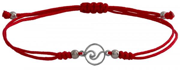 Wunscharmbändchen Welle • 925er Silber • Rot