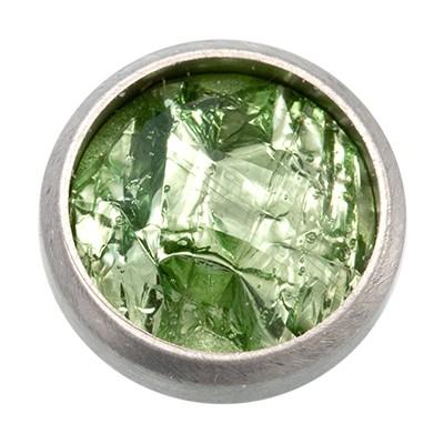 Wechselringe Top mit Glitzerfolie Grün, 12 mm