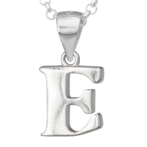 Silber-Kettenanhänger • Buchstabe E • 925er Sterlingsiber