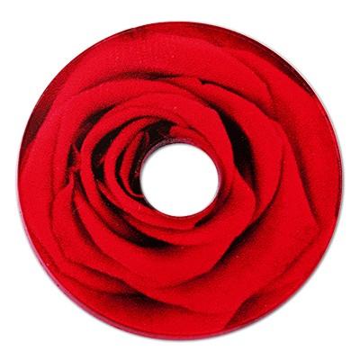 Wechselringe Acrylscheibe Rose, 30mm