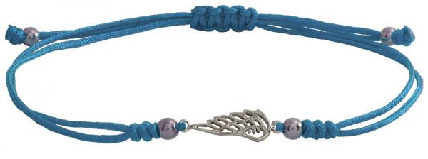 Wunscharmbändchen Fügel • 925er Silber • Hellblau