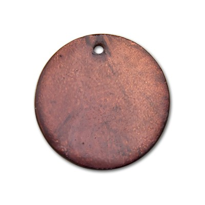 Edelstahlamulette Perlmuttscheibe 35mm - Dunkelbraun