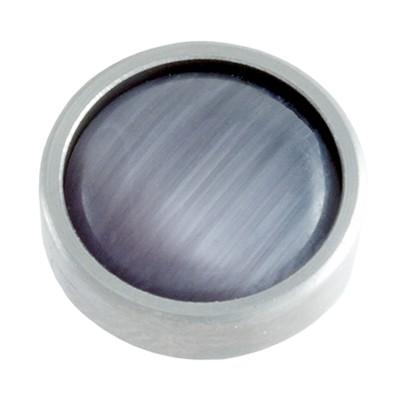 Wechselringe Top Katzenauge Grau, 12 mm
