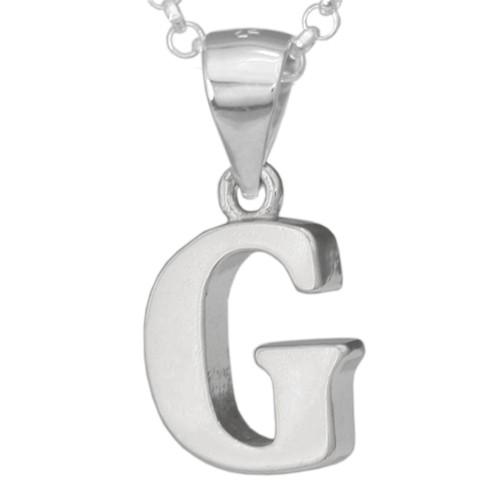 Silber-Kettenanhänger • Buchstabe G • 925er Sterlingsiber