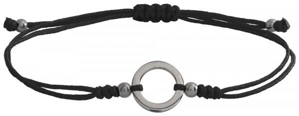 Wunscharmbändchen Kleiner Kreis • 925er Silber • Schwarz