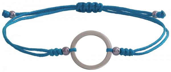 Wunscharmbändchen Großer Kreis • 925er Silber • Hellblau