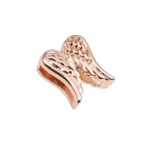 SlideOn Charm Doppelflügel rosévergoldet • Slider für Mesh-Sammelarmband