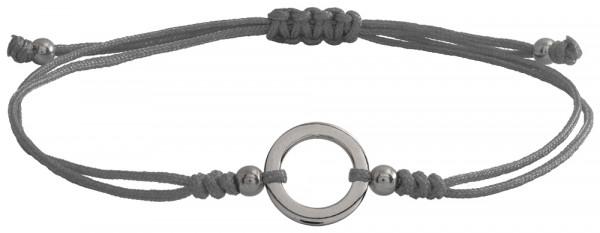 Wunscharmbändchen Kleiner Kreis • 925er Silber • Grau