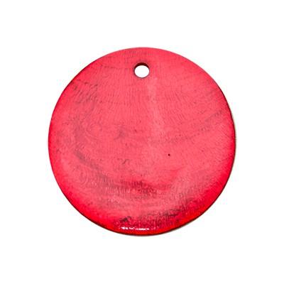 Edelstahlamulette Perlmuttscheibe 35mm - Rot